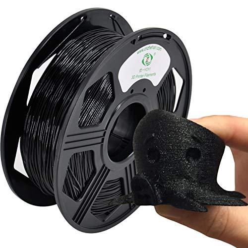 YOYI TPU 3D Printer Filament, Flexible Filament 1.75mm,100% Virgin Raw Material,0.8KG Spool,Dimensional Accuracy +/- 0.03 mm (Black)