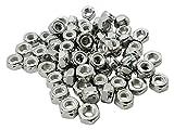 FOREVERBOLT FB3LN3816P50 NYLON HEX NUT, 3/8''-16, 316 Stainless Steel, Finish NL-19, PK 50