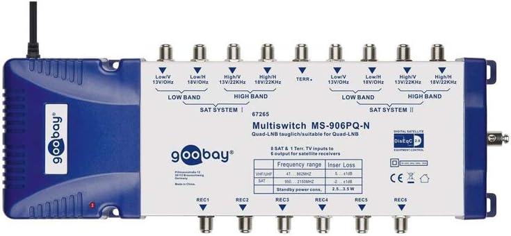 Goobay 67265 Sat Multischalter 9 Eingänge Elektronik
