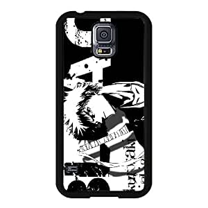 Samsung Galaxy S5 I9600 Phone Case,Black and white background pattern design, shatterproof and lightweight mobile phone shell cartoon(Hard shell, Black)