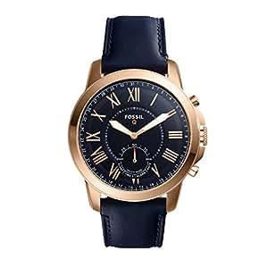 Fossil Men's Q Grant Hybrid Smartwatch Blue Watch, (FTW1155)