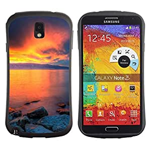 "Hypernova Slim Fit Dual Barniz Protector Caso Case Funda Para Samsung Note 3 [Sunset Beautiful Nature 36""]"