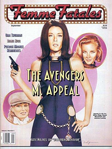 Femme Fatales Magazine DIANA RIGG Avengers ATHENA MASSEY Katie Holmes SEXY PIN-UPS September 1998 C