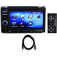 Boss BV9356 6.2 2-Din Car Monitor DVD/USB/SD Player Radio Receiver + Aux Cable