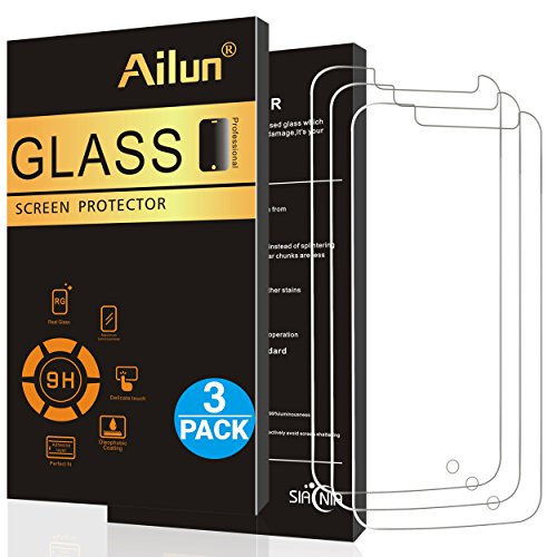 Ailun Screen Protector for Moto G4 Play Moto G Play 4th Gen 3Pack 9H Hardness Ultra Clear Anti Scratch Case Friendly Tempered Glass for Moto G4 Play Not for Moto G4 Plus Moto G4 Moto Z Play LG G4 (Best Moto G4 Cases)