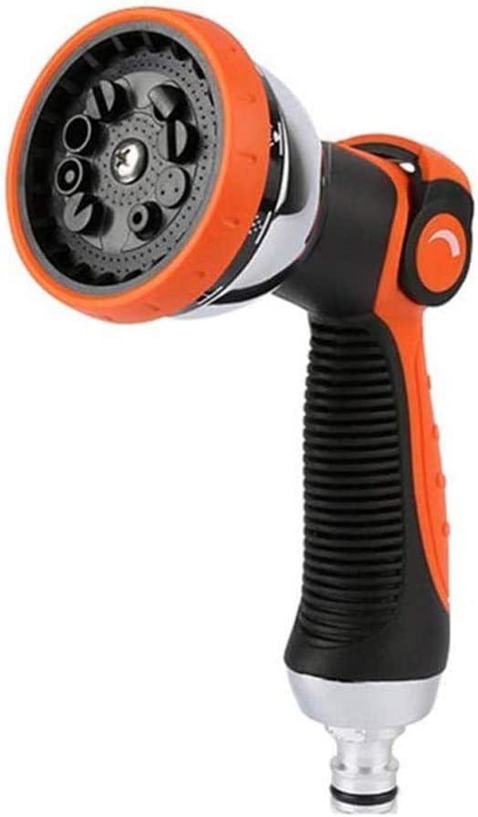 Hose Nozzle Garden Spray Gun, No-Squeeze Hose Sprayer, 10 Adjustable Watering Patterns for Variable Flow Control,Plastic Pacifier