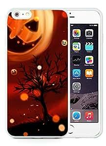 Custom-ized iPhone 6 Plus Case,Cool Pumpkin Halloween White iPhone 6 Plus 5.5 TPU Case 1