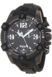 Invicta Men's 11177 Arsenal Chronograph Black Dial Black Polyurethane Watch