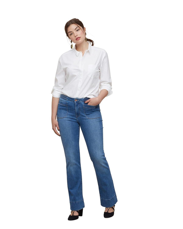 VIOLETA (Plus Size) - Bootcut montse Flare jeans - Size:16 - Color:Dark Blue