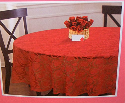 Valentine's Day Romantic Red Lace Tablecloth Sweet Hearts 70