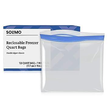 Amazon.com: Bolsas de almacenamiento para congelador Solimo ...