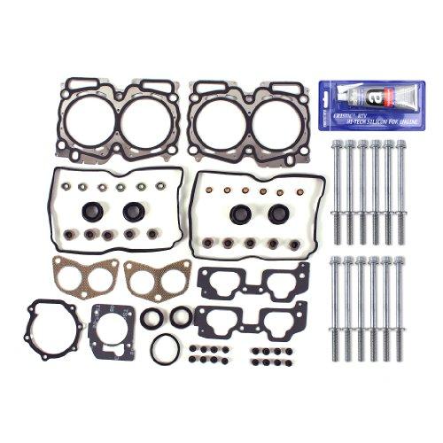 New EH7224HBSI (UPDATED) MLS Cylinder Head Gasket Set, Head Bolts Kit, & RTV Gasket Maker for Subaru / Saab 2.5L (2458cc)