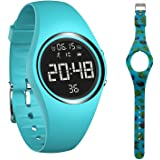 mijiaowatch Non-Bluetooth Pedometer Watch Walking Pedometer Watch Step Calories Counter with Vibration Alarm for Sports Runni