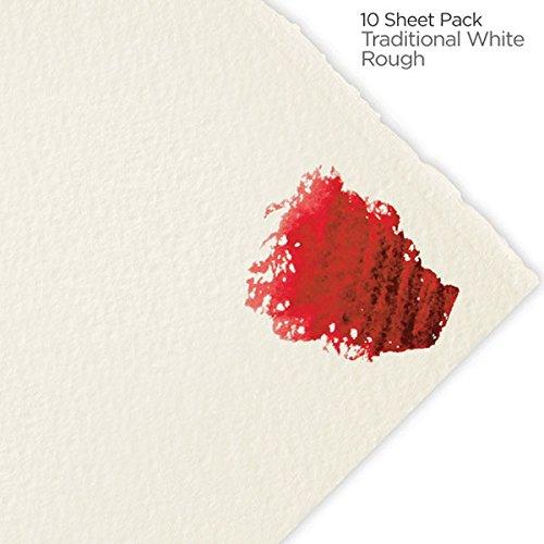 Fabriano Artistico Watercolor Paper 90 lb. Rough 10-Pack 22x30 - Traditional White