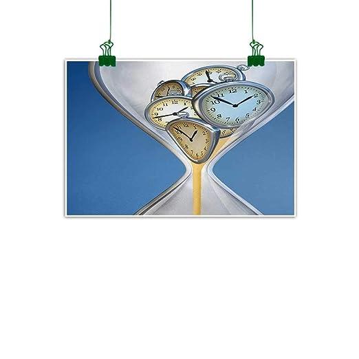 Agoza Reloj de Pared para decoración de póster con diseño ...
