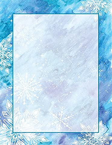 Geographics Blizzard Christmas Letterhead, 8.5 x 11 Inches, Design, 80-Sheet Pack (49735W) - Christmas Design Pack
