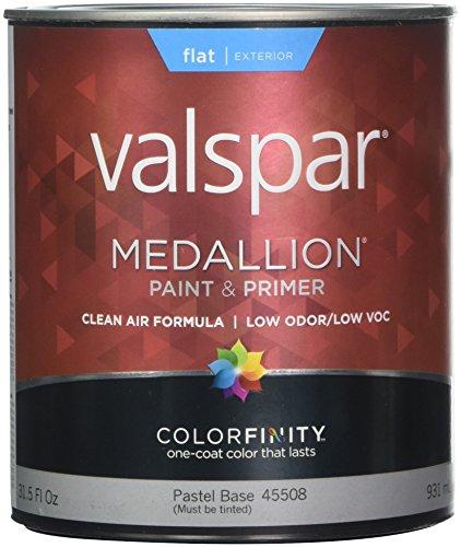 (Valspar Brand 1 Quart Flat Pastel Base Medallion Exterior Latex House Paint 27-4)