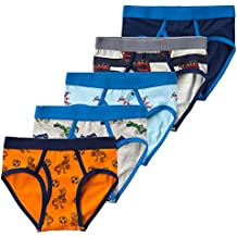 B.GKAKA Little Boys 5-Pack Briefs Dinosaur Truck Kids Underwear