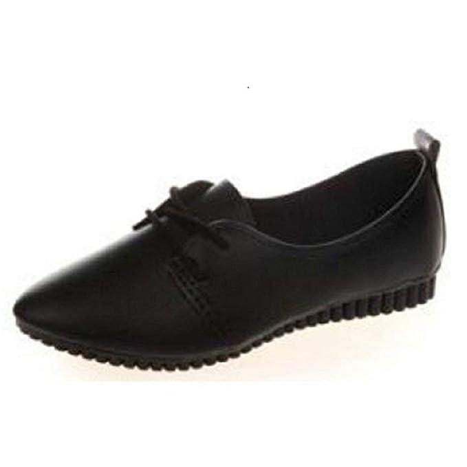 Zilosconcy Zapatillas Zapatos de Mujeres Cómodos Mocasines Zapatos de Trabajo con Masaje Zapatos de Guisantes Puntiagudo Zapatos Planos Ligeras ...