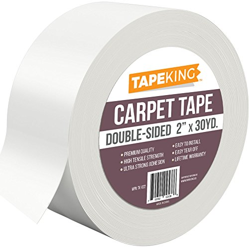 Hot Melt Dispenser (Tape King Double Sided Carpet Tape White, Indoor/Outdoor Rug Binding Adhesive 2 Inch x 30 Yards)