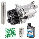 New AC Compressor & Clutch With Complete A/C Repair Kit For Nissan Versa - BuyAutoParts 60-81522RK New