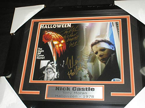 NICK CASTLE & TONY MORAN 2X Signed Michael Myers 8x10 Photo FRAMED Autograph Halloween -