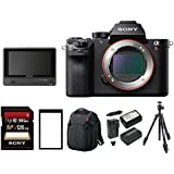 Sony Alpha a7RII Mirrorless Digital Camera (Body Only) with Clip On LCD Monitor & Accessory Bundle