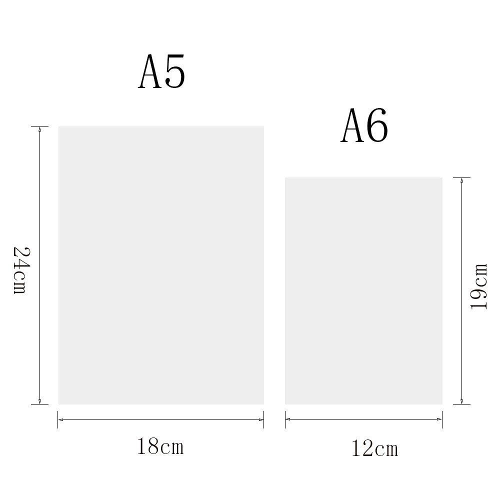 Funda de piel para bloc de notas de Zhi Jin A5 Con espacio para bol/ígrafo Carpeta de aros recargable color amarillo lim/ón