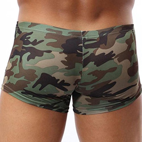 Gaddrt Military Men's Camouflage Boxer Briefs Trunks Underwear Underpant...