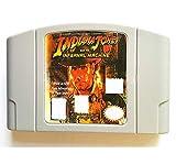 BrotheWiz Nintendo N64 Game Indiana Jones English Language for 64 bit USA Version Video Game Cartridge Console