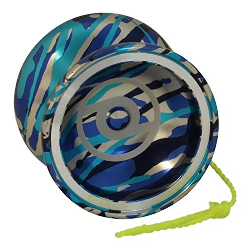 Spintastics Whiplash Professional Responsive Trick Yoyo with Ball Bearing Axle and Extra String (Blue)