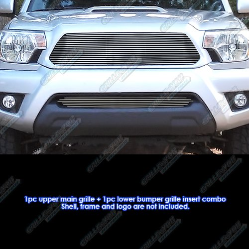 APS Fits 2012-2015 Toyota Tacoma Billet Grille Grill Insert Combo #T81191A