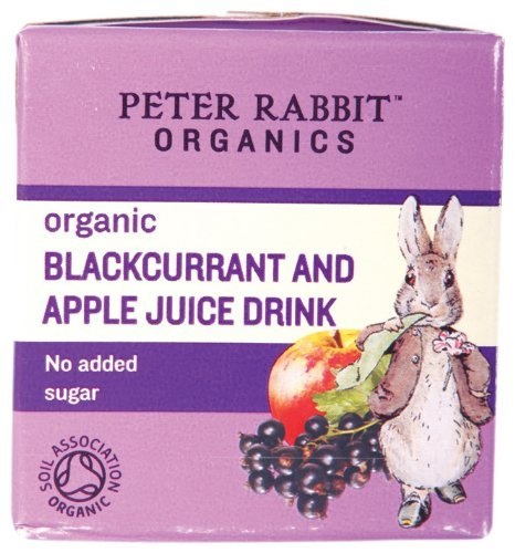 Peter Rabbit Organics From 6 Months Organic Blackcurrant and Apple Juice 150 ml (Pack of 10) Suma