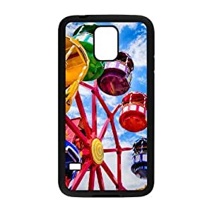 Diy The Ferris Wheel Phone Case for samsung galaxy s5 Black Shell Phone JFLIFE(TM) [Pattern-1] by runtopwell