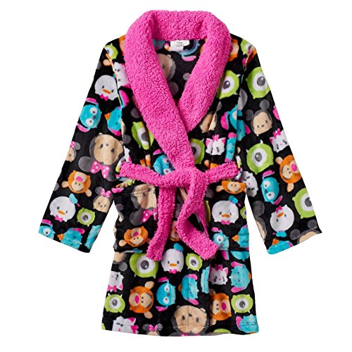 Disney Girls Plush Black Bathrobe