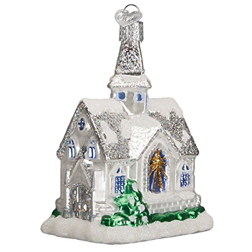 Old World Christmas Ornaments: Sparkling Cathedral Glass Blown Ornaments for Christmas Tree ()
