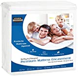 Utopia Bedding Premium Zippered Waterproof Mattress Encasement - Zipper Opening Mattress Protector (Twin XL)