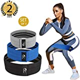 Resistance Bands Loop Exercise Bands Hip Resistance Bands Booty Bands for Legs And Butt,Resistance Bands Soft & Non Slip, Wide Loop Hip Band, Hip Thick Workout Bands Circle, Fabric Band Set of 3