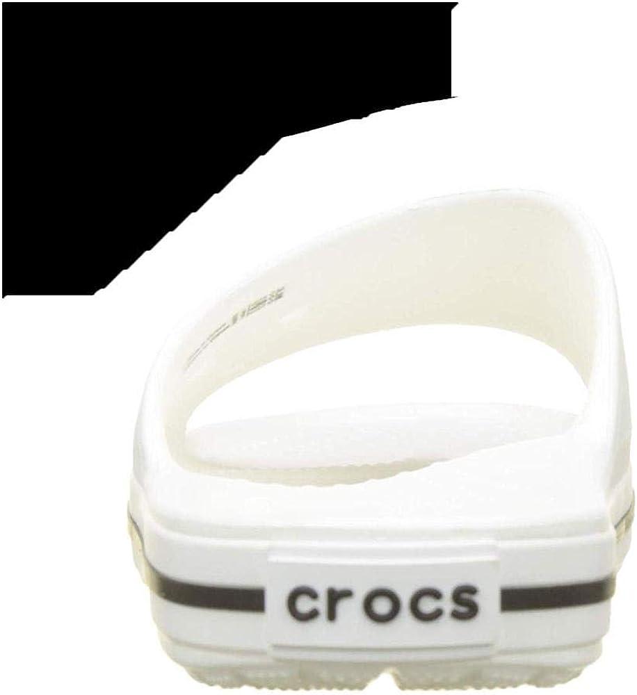 Crocs Unisex-Erwachsene Slide Blanc//Noire Mixte Adulte Clogs