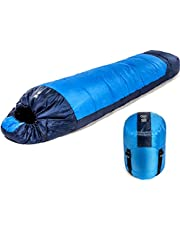 Fit Nation Viking Trek 350x Sleeping Bag – Warm 350g Filling & Breathable, Ideal Camping Gear for Music Festivals, DoE Awards, Hiking, and Backpacking - Includes 100% Waterproof Compression Carry Bag