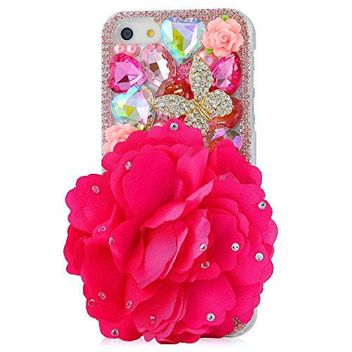 EVTECH(TM) Neue iPhone 6 Plus/iPhone 6s Plus (5.5 Zoll) Bling Glitter Diamant Schutzhülle/Transparent Hart Kunststoffe Hülle/strass Etui Schale/Plastik Handytasche/Schale case cover