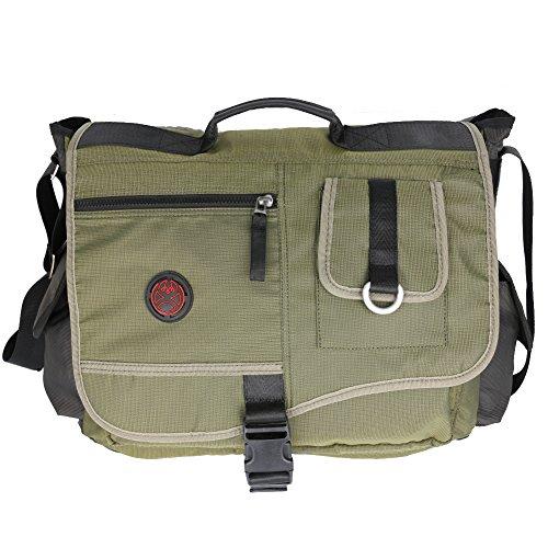 Laptop Messenger Bag, 15.6 Inch Laptop Bag, Vanlison Large Messenger Bag, Shoulder Bag for Men Green