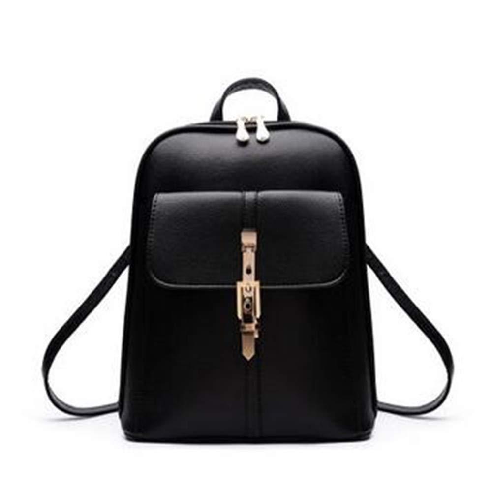 LIZHONG-SLT Casual Bag, Double Shoulder Bag, Lady Bag, Single Shoulder Dual-use Bag,Black,(Width 27cm Thickness 13cm high 32cm)