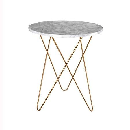 Huahua Furniture Mesitas de café, Mesa Lateral de mármol Mesa de ...