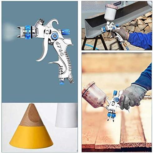 600 cc techos suelos 2 mm kit de herramientas para pintura de aer/ógrafo para vallas 1,4 mm 1,7 mm azul paredes Kacsoo Pistola de pulverizaci/ón de aire HVLP con 3 boquillas de pulverizaci/ón