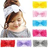 Baby Headbands Toddler Elastic Hairbows Cute Infant Girls Headwrap-8Pcs