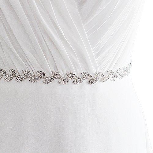 Cristalli Cinghia Del Telaio Abito Da Sposa Cristalli Delle Donne Ulapan Cinghia Fascia Nuziale, S198-s Off-white