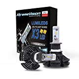 XtremeVision X3 50W 12,000LM - H3 LED Headlight Conversion Kit - 6500K ZES LED - 2018 Model
