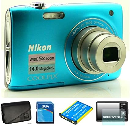 Nikon Coolpix S3100 Blau Digitalkamera 2 7 Zoll Inkl Kamera