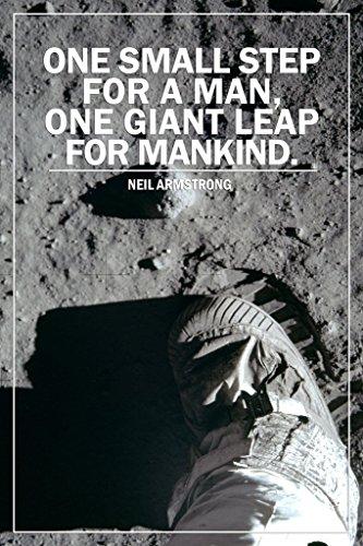 One Small Step for a Man One Giant Leap for Mankind Moon Quote Poster 12x18 inch